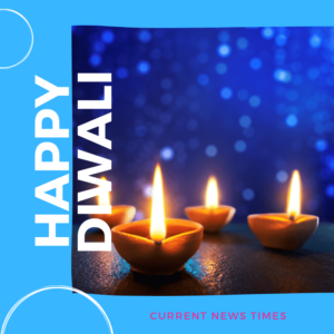 Happy Diwali Wishes with blue background