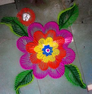 rangoli with multiple colours 2019